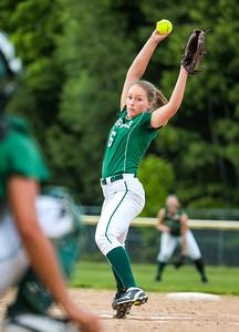 Oxford Hills' Lauren Merrill winds up.