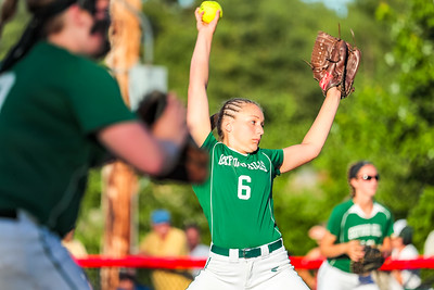 Oxford Hills' Lauren Merrill delivers a pitch early in the game.