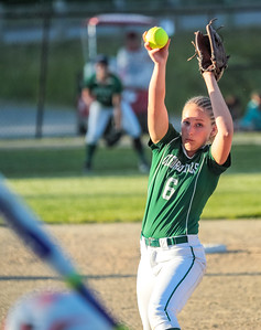 Oxford Hills' Lauren Merrill delivers a pitch midway through the game.