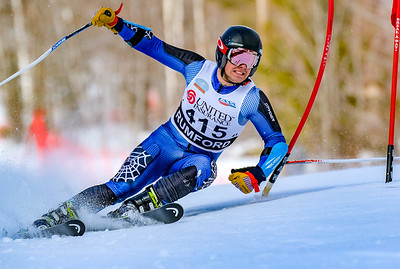 Grit: Oxford Hills' Ryland VanDecker skis his way on the the Maine State alpine team today at Black Mountain in Rumford.