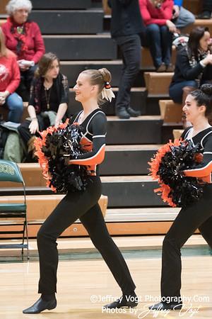 1-13-2018 Rockville HS at Damascus HS Poms Invitational Division 1, MoCoDaily, Photos by Jeffrey Vogt