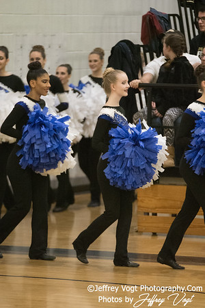 1-20-2018 Magruder HS at Northwest HS Poms Invitational Division 1, MoCoDaily, Photos by Jeffrey Vogt