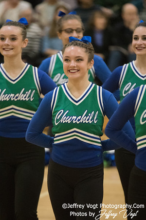 1-20-2018 Winston Churchill HS at Northwest HS Poms Invitational Division 2, MoCoDaily, Photos by Jeffrey Vogt