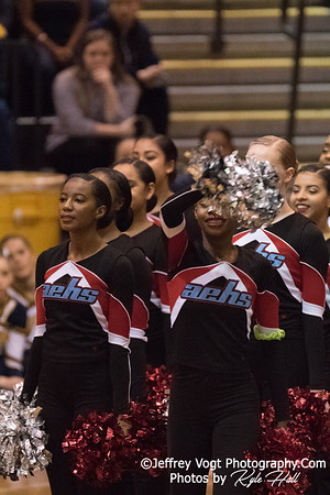 2/3/2018 Albert Einstein HS at MCPS County Poms Championship Blair HS Division 2, Photos by Kyle Hall, MoCoDaily