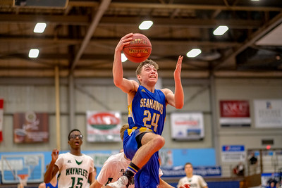 Boothbay's Steve Reny goes up for a layup late in the game.