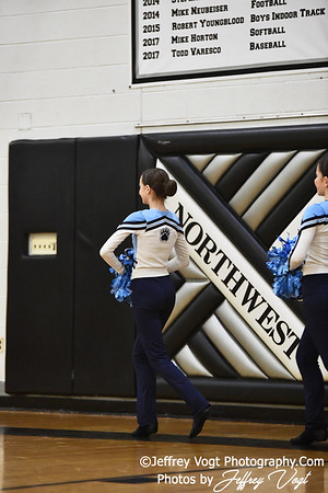 1-26-2019 Clarksburg High School Annual Poms Invitational,  Division 3 Varsity Poms, at Northwest High School, Photos by Jeffrey Vogt, MoCoDaily