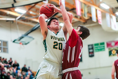 Oxford Hills' Will Dieterich goes up against Bangor's Isaac Cummings.