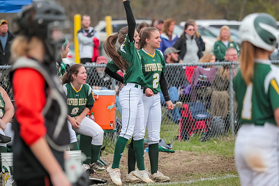 Oxford Hills Katie Montelongo and Kiara McLeod celebrate.