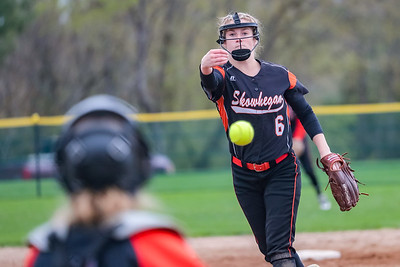 Skowhegan's Sydney Ames delivers a pitch in the second inning.