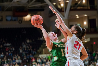 Oxford Hills' Cecilia Dieterich tries to get a shot off as she's guarded by South Portland's Ashlee Aceto.