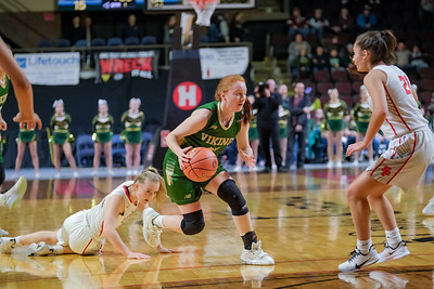 After a steal, Oxford Hills' Julia Colby comes up with the ball after a steal on the full press.