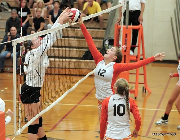 9-26-2014 Agawam vs Longmeadow Girls Vball