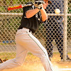 04-07-2010...Midland Park's Anthony Iorio hits a foul at bat  against Waldwick.<br /> PHOTO: KELLY BIRDSEYE