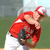 04/12/2010...Glen Rock pitcherAaron Weisberg on the mound against Hawthorne.<br /> PHOTO: KELLY BIRDSEYE