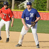 04/12/2010...Glen Rock's Matt Lawsky (12) taking  a lead off first against Hawthorne.<br /> PHOTO: KELLY BIRDSEYE