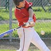04/12/2010...Glen Rock's  Matt Lawsky (12) hitting a double in the fifth inning against Hawthorne.<br /> PHOTO: KELLY BIRDSEYE