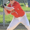 04/12/2010...Glen Rock's Sean Miller at bat against Hawthorne keeping his eye on a high pitch.<br /> PHOTO: KELLY BIRDSEYE