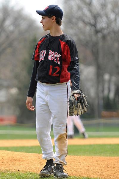 Glen Rock pitcher Matt Lawsky on the mound.<br /> PHOTO: KELLY BIRDSEYE