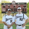 04/30/2010...Don Bosco Head coach and former NY Yankee relief pitcher Mike Stanton (32) with assistant coach and former Waldwick baseball stand-out, Mark DeMenna.<br /> PHOTO: KELLY BIRDSEYE
