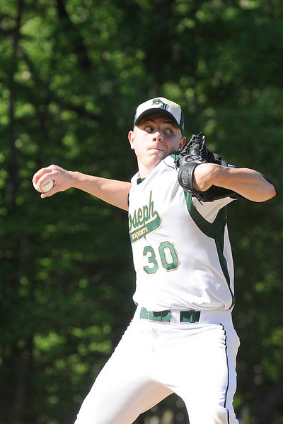 05/06/2010...St. Joseph pitcher Art Lewicki on the mound against Ridgewood<br /> PHOTO: KELLY BIRDSEYE