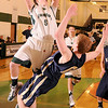 1-26-2010...Ramapo's  Tyler Ward (5) shooting in front of James Chalmers of Indian Hills.<br /> PHOTO: KELLY BIRDSEYE