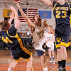 3-9-2010...Andrew Ballester of Indian Hills (33) dives for a rebound between Pequannock defenders Kyle White (44) and Jordan Tabakman in the North 1, Group 2 championship.<br /> PHOTO: KELLY BIRDSEYE
