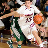 12/18/2009...Ridgewood's Adam Savian (13) drivng to the basket, had 9 points in the Maroons' 63-59 opening game overtime loss to Passiac Valley.<br /> PHOTO: KELLY BIRDSEYE