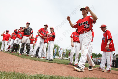 Cheshire's Benjamin Shadeck walks up to receive his medal Saturday during the CIAC Class LL final at Palmer Field in Middletown. Cheshire Rams defeated Ridgefield 1-0  May 31, 2016 | Justin Weekes / Special to the Record-Journal