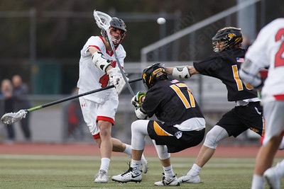 Cheshire's Michael Jeffery gets a shot on goal Monday at Alumni Field in Cheshire April 16, 2018 | Justin Weekes / Special to the Record-Journal