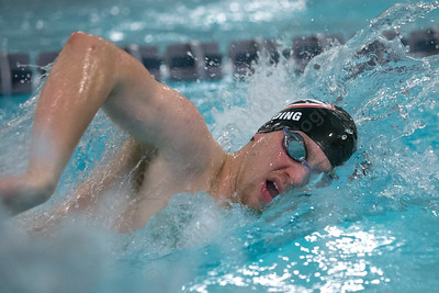 Cheshire's Ethan Fielding in the 200 freestyle Thursday at the Sheehan High School Natatorium in Wallingford  February 1, 2018 | Justin Weekes / Special to the Record-Journal