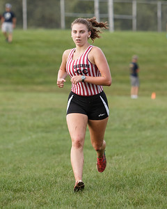 Cheshire's Emmy Longmore finished third Wednesday at Sheehan High School in Wallingford September 26, 2018 | Justin Weekes / Special to the Record-Journal