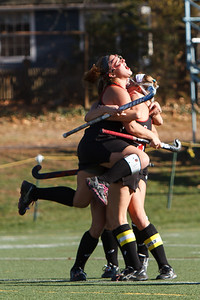 Cheshire celebrates after scoring against Darien during the class L finals Saturday at Cottone Field in Wethersfield  Nov., 16 2013 | Justin Weekes / For the Record-Journal