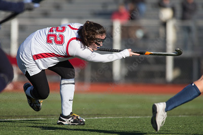 Cheshire's Meaghan Hogan scores tying the game at one Friday at Alumni Field during the CIAC Class L quarterfinal round on the campus of Cheshire High School in Cheshire. Staples defeated Cheshire 2 to 1.November 10, 2017 | Justin Weekes / For the Record-Journal