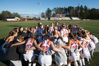 Cheshire field hockey gets ready to face Lauralton Hall Monday at Alumni Field on the campus of Cheshire High School in Cheshire October 30, 2017 | Justin Weekes / For the Record-Journal