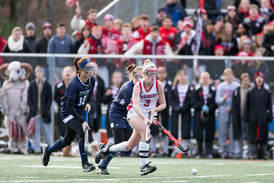 Cheshire's Mikayla Crowley finds some open space Sunday during the CIAC Class L finals at Wethersfield High School in Wethersfield November 18, 2018 | Justin Weekes / Special to the Record-Journal