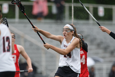 Cheshire's Anne Eddy scores off a free position penalty Tuesday at Alumni Field during the SCC semifinals on the campus of Cheshire High School in Cheshire May 22, 2018   Justin Weekes / Special to the Record-Journal