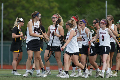 Cheshire's celebrates after Mia Pulisciano scores Thursday at Cheshire High School in Cheshire May 17, 2018 | Justin Weekes / Special to the Record-Journal