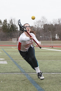 Cheshire's Samantha Oris Tuesday at Cheshire High School in Cheshire March 27, 2018 | Justin Weekes / Special to the Record-Journal