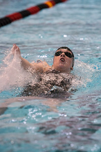 Cheshire's Elizabeth Boyer swims the back stroke in the 200 individual medley Wednesday during the CIAC Class L swimming finals at the Freeman Athletic Center Natatorium on the campus of Wesleyan University in Middletown November 15, 2017   Justin Weekes / For the Record-Journal