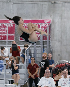 Cheshire's Sienna Breton sets a new school diving record from 1997 with a score of 285.68 Thursday at the Cheshire Community Pool in Cheshire September 20, 2018 | Justin Weekes / Special to the Record-Journal