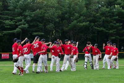 Cheshire celebrates after beating Berlin 1-0 Wednesday at Cheshire High School in Cheshire Jul. 8, 2015 | Justin Weekes / For the Record-Journal