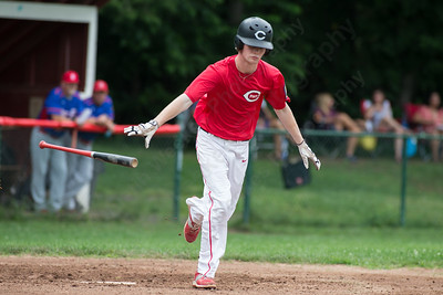 Cheshire's Connor Davey (24) gets waked Wednesday at Cheshire High School in Cheshire Jul. 8, 2015 | Justin Weekes / For the Record-Journal