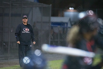 Cheshire's head coach Kristine Drust watches her offense in the seventh inning Monday during the CIAC Class LL semifinals at West Haven High School in West Haven June 4, 2018 | Justin Weekes / Special to the Record-Journal