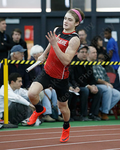 Cheshire's Frank Barolli in the 4x200 Saturday during the CIAC Class LL Indoor Track Finals at Floyd Little Athletic Center in New Haven February 10, 2018 | Justin Weekes / Special to the Record-Journal