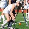 10/25/2009...Northern Highland's senior Kristin Heaney (foreground) had five goals and two assists in the Highlander's 7-4 semifinal win over Old Tappan.<br /> PHOTO: KELLY BIRDSEYE