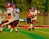 Auburn Maroons Andre Telfair (34) running back a kickoff against the Baldwinsville Bees at Pelcher-Arcaro Stadium in Baldwinsville, New York on Friday, September 5, 2014. Baldwinsville won 30-8.