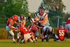 Baldwinsville Bees Tom Scarfino (11) kicks a field goal against the Auburn Maroons at Pelcher-Arcaro Stadium in Baldwinsville, New York on Friday, September 5, 2014. Baldwinsville won 30-8.