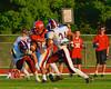 Baldwinsville Bees Cameron Skipworth (22) about to break a 68 yard run for a touchdown against the Auburn Maroons at Pelcher-Arcaro Stadium in Baldwinsville, New York on Friday, September 5, 2014. Baldwinsville won 30-8.