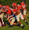 Baldwinsville Bees Cameron Skipworth (22) carrying the ball against the Auburn Maroons at Pelcher-Arcaro Stadium in Baldwinsville, New York on Friday, September 5, 2014. Baldwinsville won 30-8.