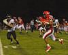 Baldwinsville Bees Cameron Skipworth (22) running against the Fayetteville-Manlius Hornets at Pelcher-Arcaro Stadium in Baldwinsville, New York on Friday, September 26, 2014. Baldwinsville won 39-6.